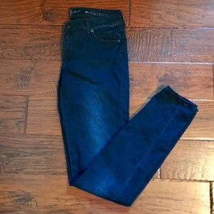 7 For All Mankind Blue Black Skinny Jeans